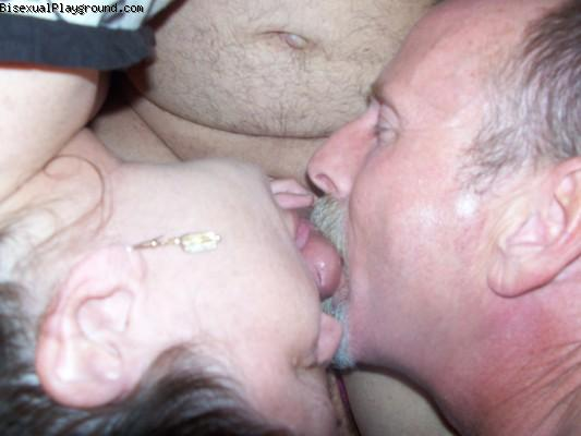 Men Sucking Dick With Women Participating on Bisexual Playground
