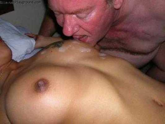 Men Eating Cum on Bisexual Playground