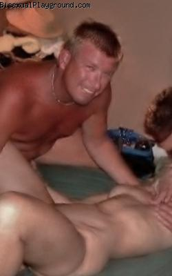 2 Guys One Woman on Bisexual Playground