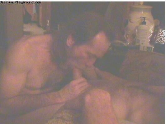 Bisexual Men Giving Oral on Bisexual Playground
